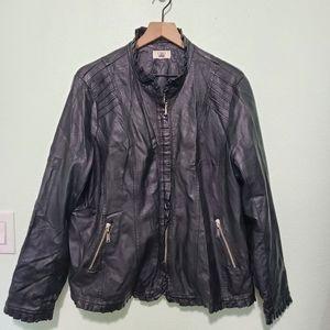 Cato | Plus Size Faux Leather Jacket